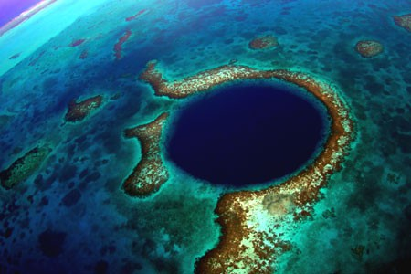 The Famous Blue Hole the outer Caye Islands Belize