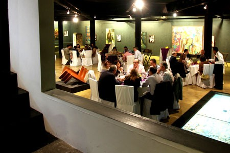Dining in a famous art museum