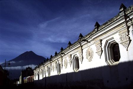 View of Agua Volcano, Antigua, Guatemala
