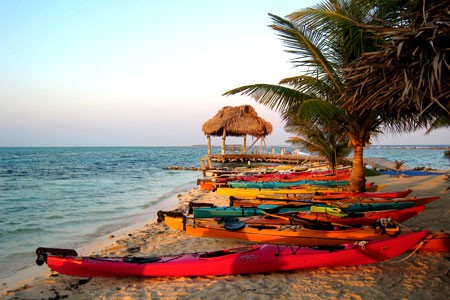 Sea Kayaing the Outer Cayes in Belize
