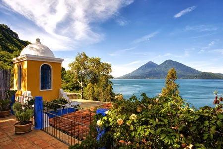 View from Casa Palopo Luxury Boutique Hotel, Lake Atitlan, Guatemala