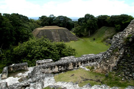 Xunantunich Maya temple site, Cayo, Belize