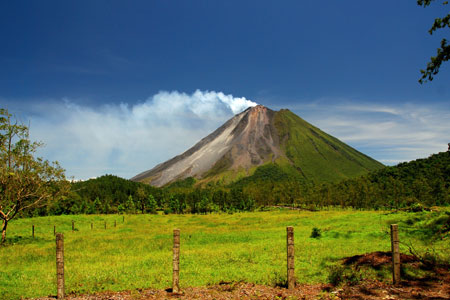 Arenal Volcano near La Fortuna in Costa Rica