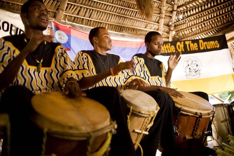Garifuna drumming with Viaventure
